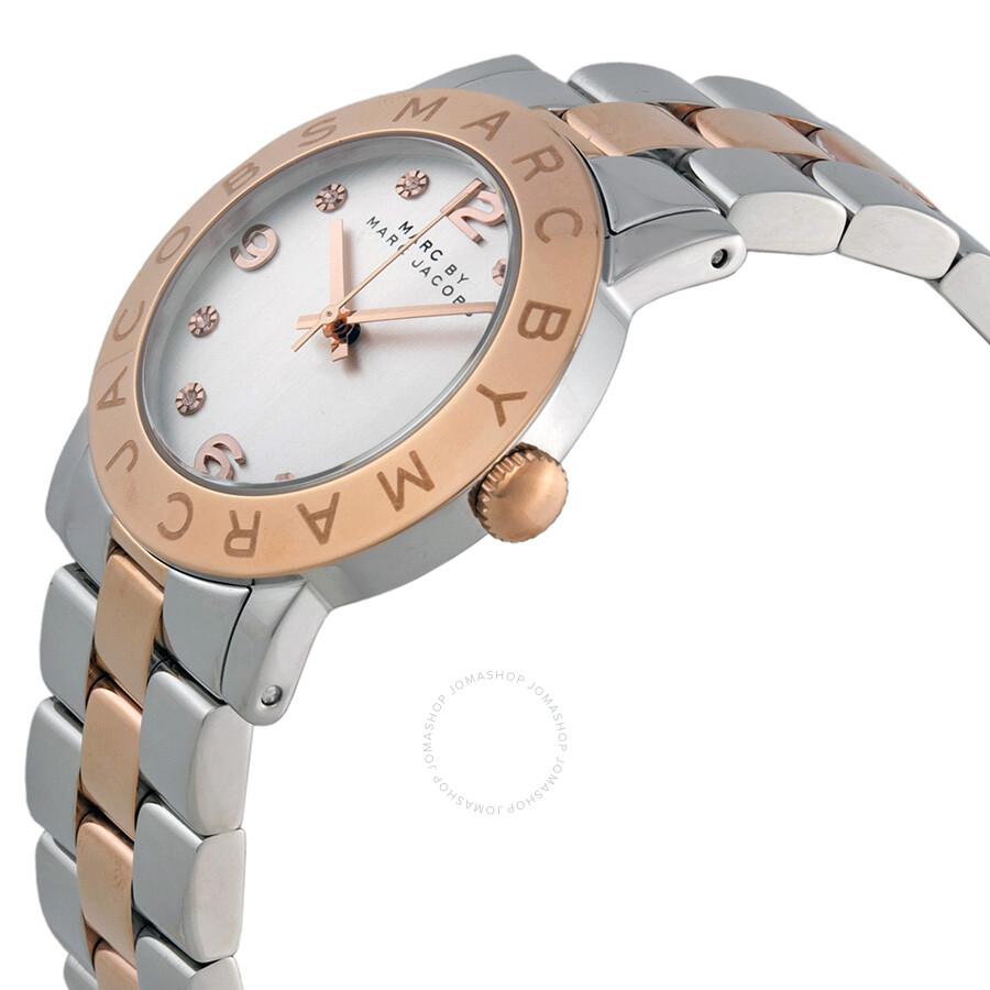 ... Marc by Marc Jacobs Silver Dial Two-tone Bracelet Ladies Watch MBM3194  ... d48e08a35a