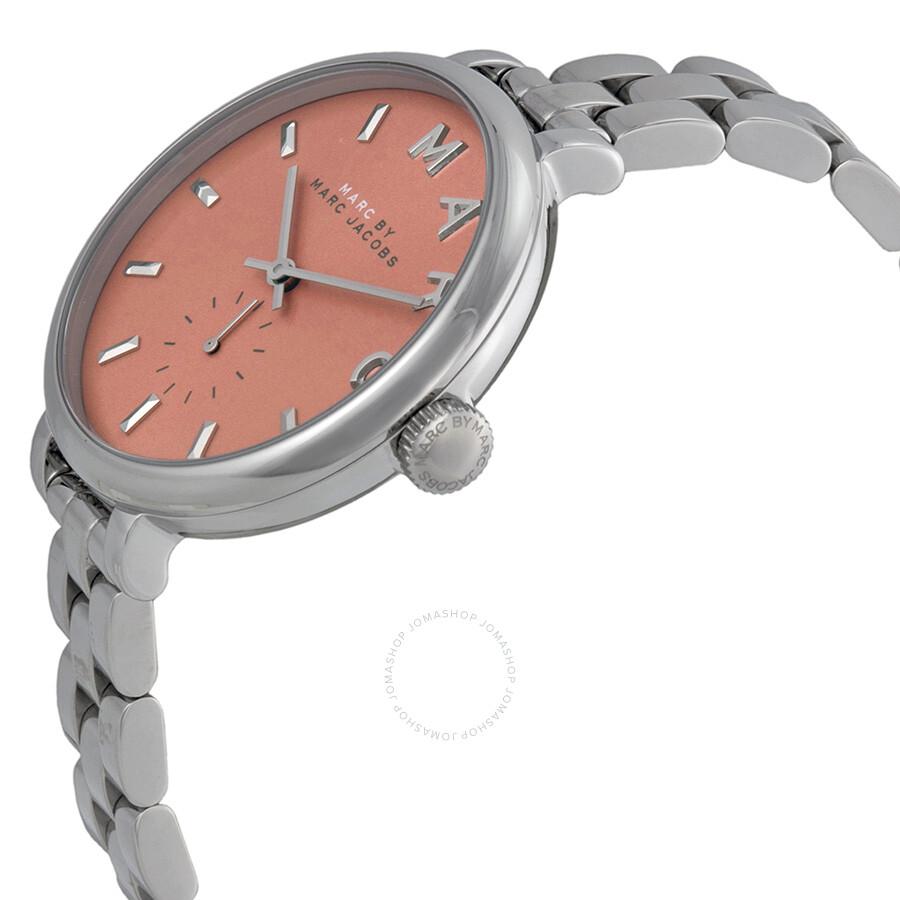 974529ecd5485 ... Marc by Marc Jacobs Slim Baker Orange Dial Stainless Steel Ladies Watch  MBM3365 ...