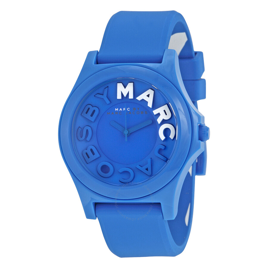 3beeef23044 Marc By Marc Jacobs Sloane Blue Dial Blue Silicone Ladies Watch MBM4024 ...