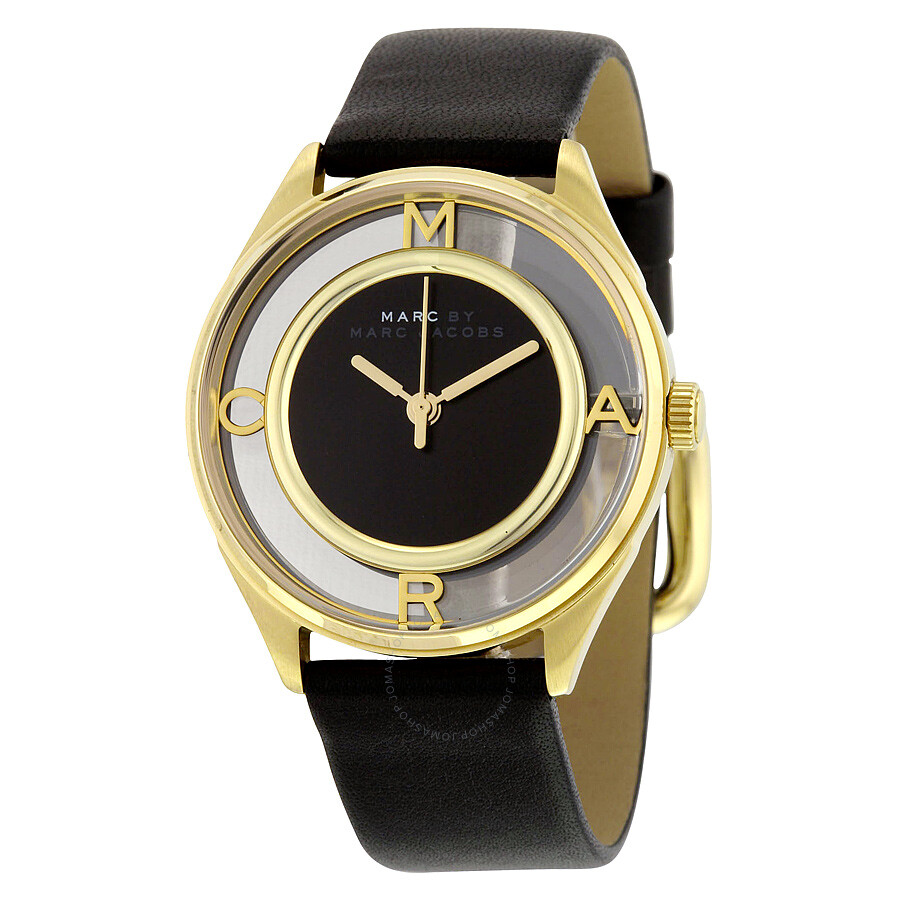 Leather Gmbh Contact Us Email Sales Mail: Marc By Marc Jacobs Tether Black Dial Leather Strap Ladies
