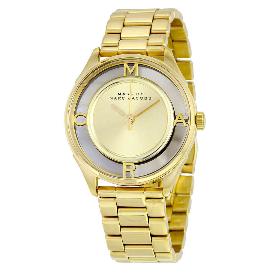 69cabb7135f Marc by Marc Jacobs Tether Gold-Tone Stainless Steel Ladies Watch MBM3413  ...