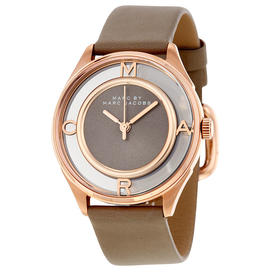 marc by marc jacobs tether grey dial leather ladies watch