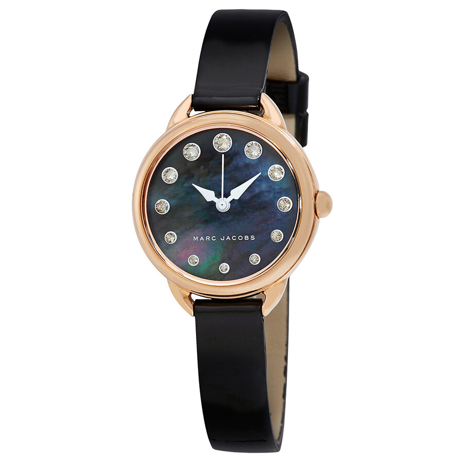 Marc jacobs betty black mother of pearl dial ladies watch mj1513 betty marc jacobs watches for Pearl watches