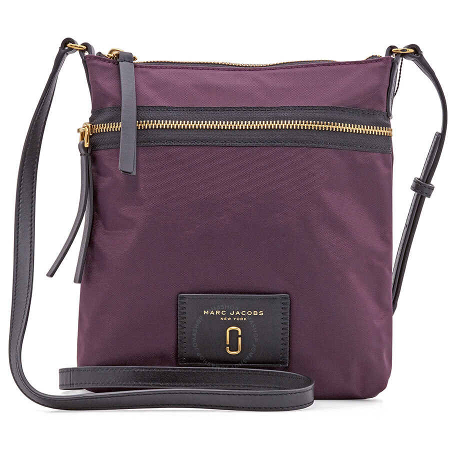 Marc Jacobs Biker Nylon Crossbody Dark Violet