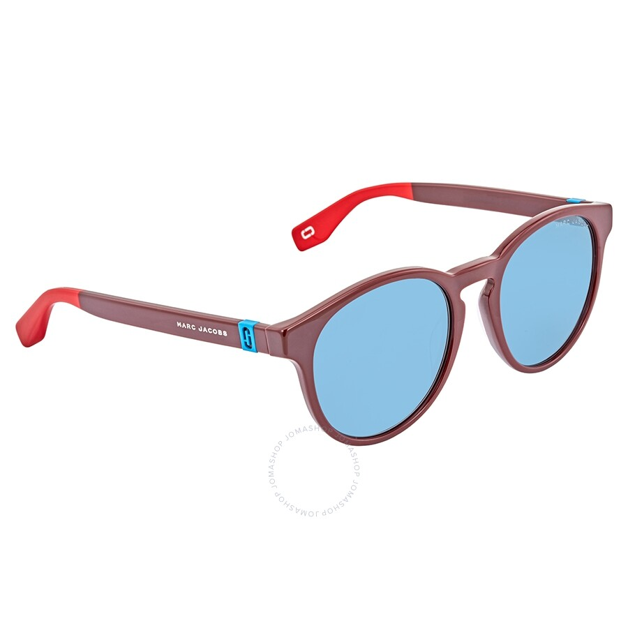 8b6601b58dcd MARC JACOBS Blue Avio Round Unisex Sunglasses MARC 351/S LHF52KU ...