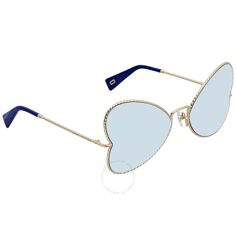 d6f4a84ff82 Marc Jacobs Blue Mirror Butterfly Sunglasses MARC254S 0J5G 3J 60 ...