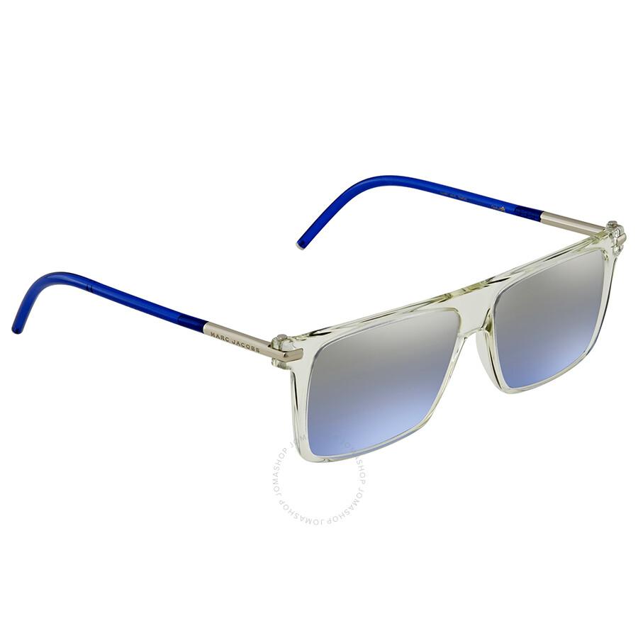 d001def8cb Marc Jacobs Blue Mirror Gradient Rectangular Sunglasses MARC46S 0TMD I5 55  ...