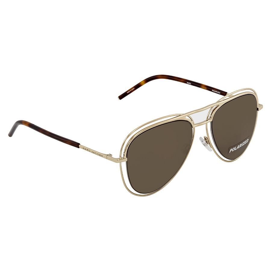 7dd82c5d1896 Marc Jacobs Bronze Aviator Polarized Sunglasses MARC7S 0SKT SP 54 ...