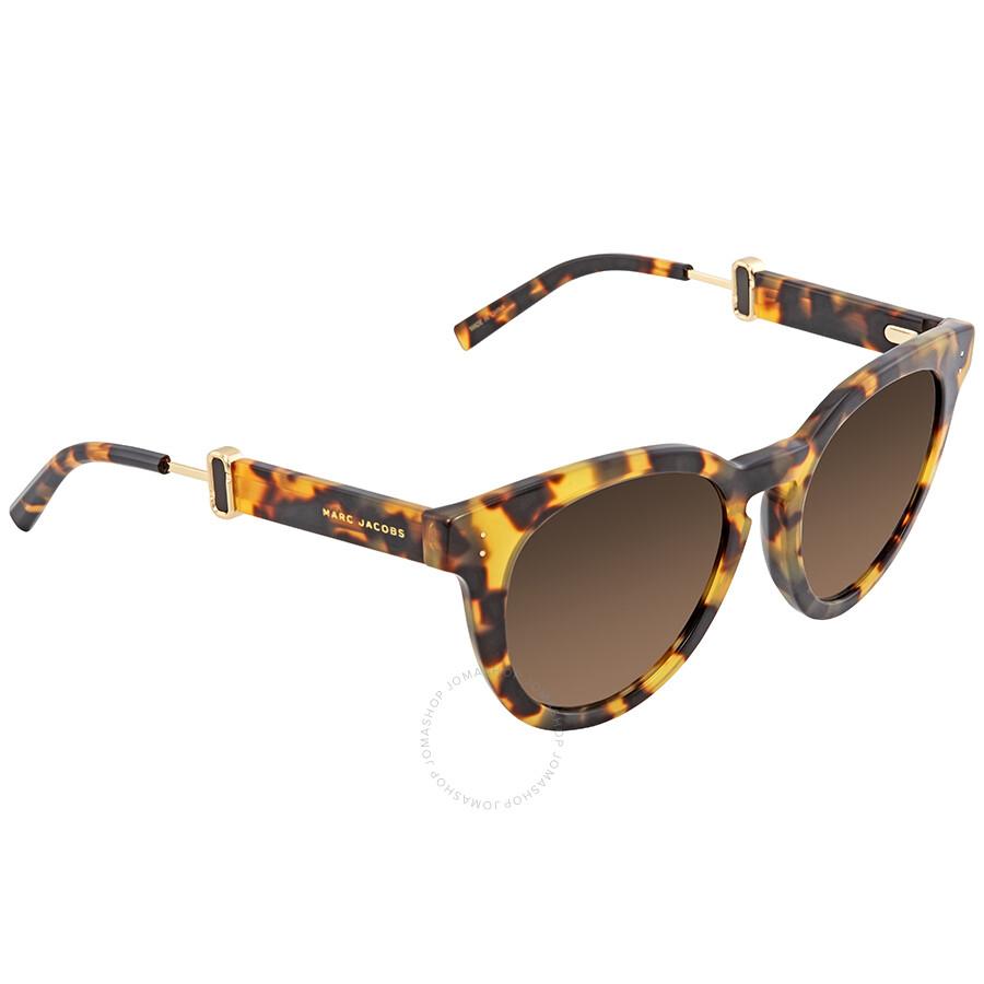 2640972eadb0 Marc Jacobs Brown Gradient Cat Eye Ladies Sunglasses MARC129S 000F HA 50 ...