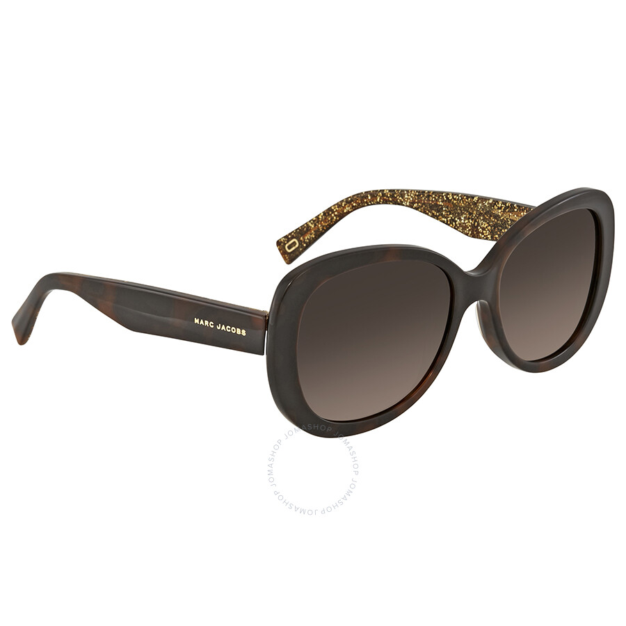 89387ac84c01 Marc Jacobs Brown Gradient Square Polarized Ladies Sunglasses MARC 261 S  0DXH LA 56 ...