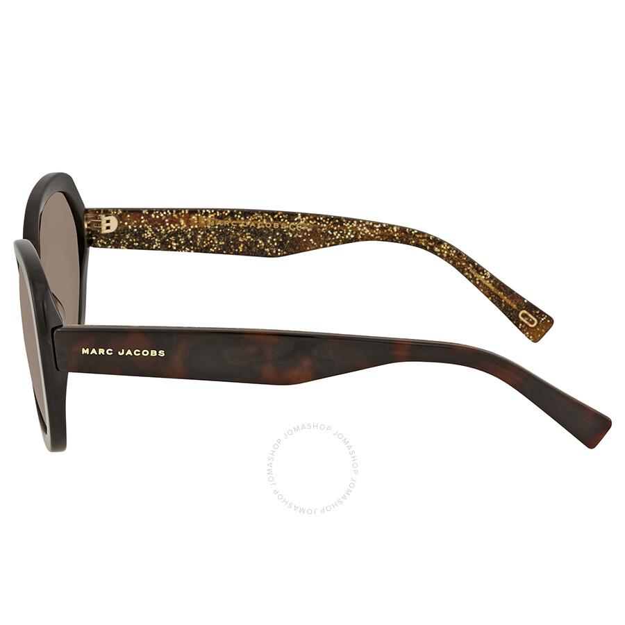 b414dd90809f ... Marc Jacobs Brown Gradient Square Polarized Ladies Sunglasses MARC  261/S 0DXH LA 56