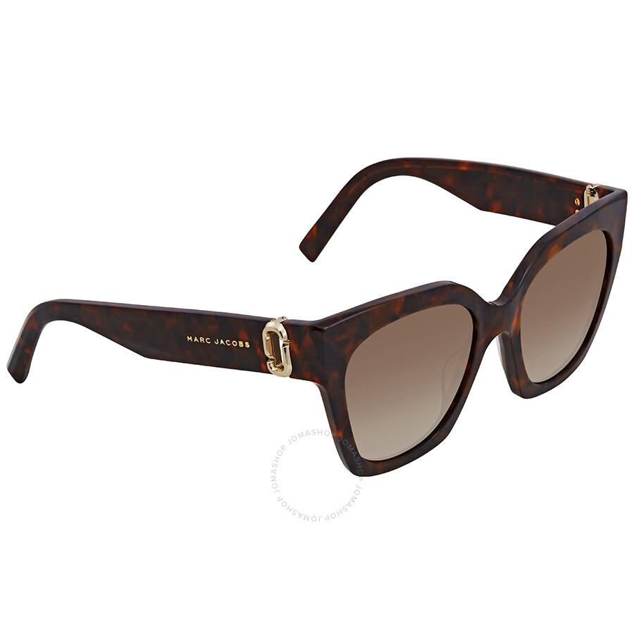 5f94563cf Marc Jacobs Brown Gradient Square Sunglasses MARC182S 0086 HA 52 Item No.  MARC182S 0086 HA 52