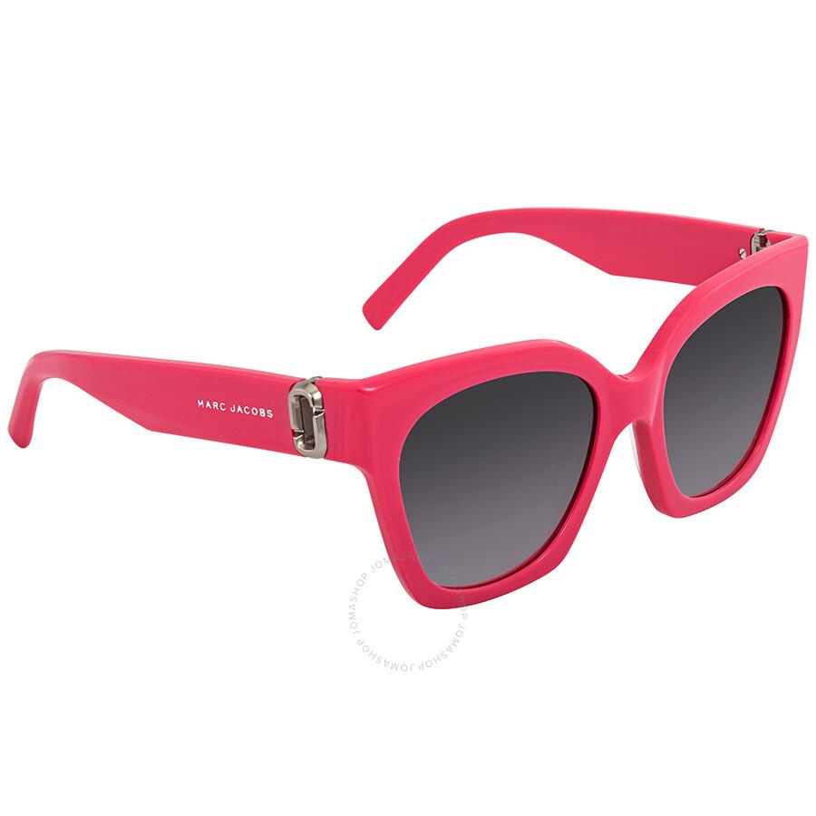 9a74e025f1 Marc Jacobs Dark Gray Gradient Square Ladies Sunglasses MARC 182 S 0MU1 9O  52 ...