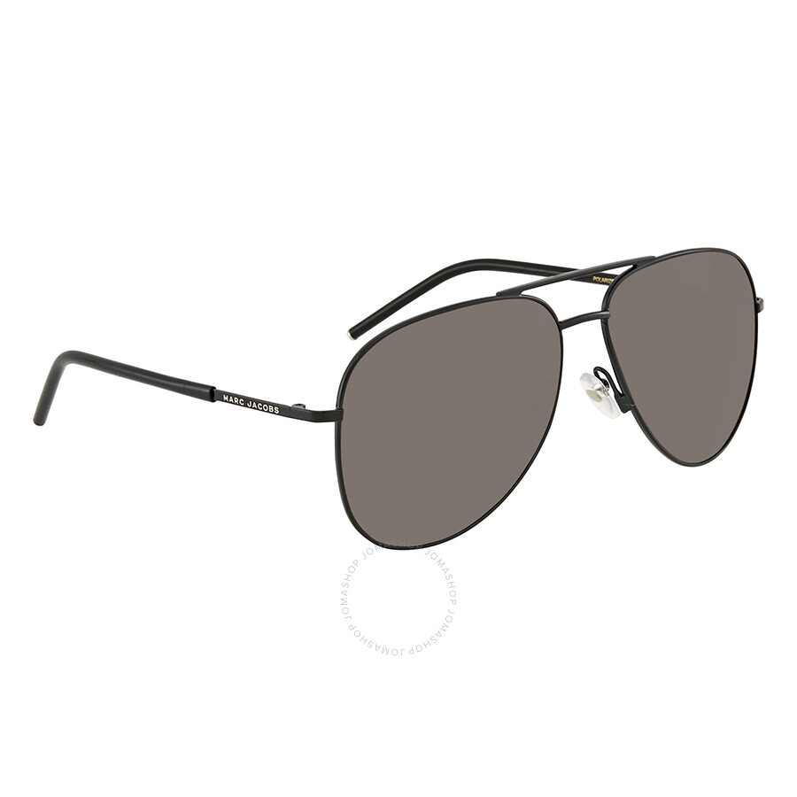 bece72bcfba6 Marc Jacobs Gray CP PZ Aviator Polarized Sunglasses MARC 60 S 065Z M9 59 ...