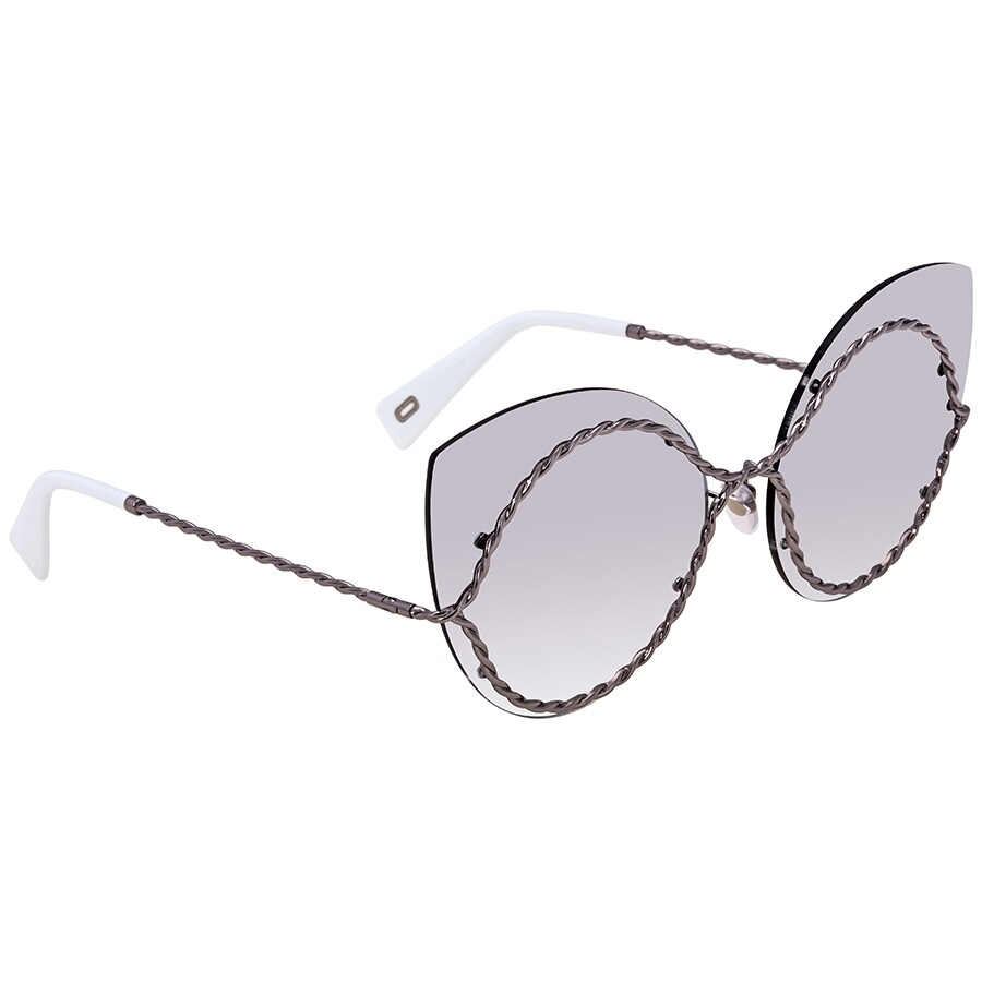 082bbffa04 Marc Jacobs Gray Mirror Shaded Silver Cat Eye Ladies Sunglasses MARC161S  06LB IC 61 ...