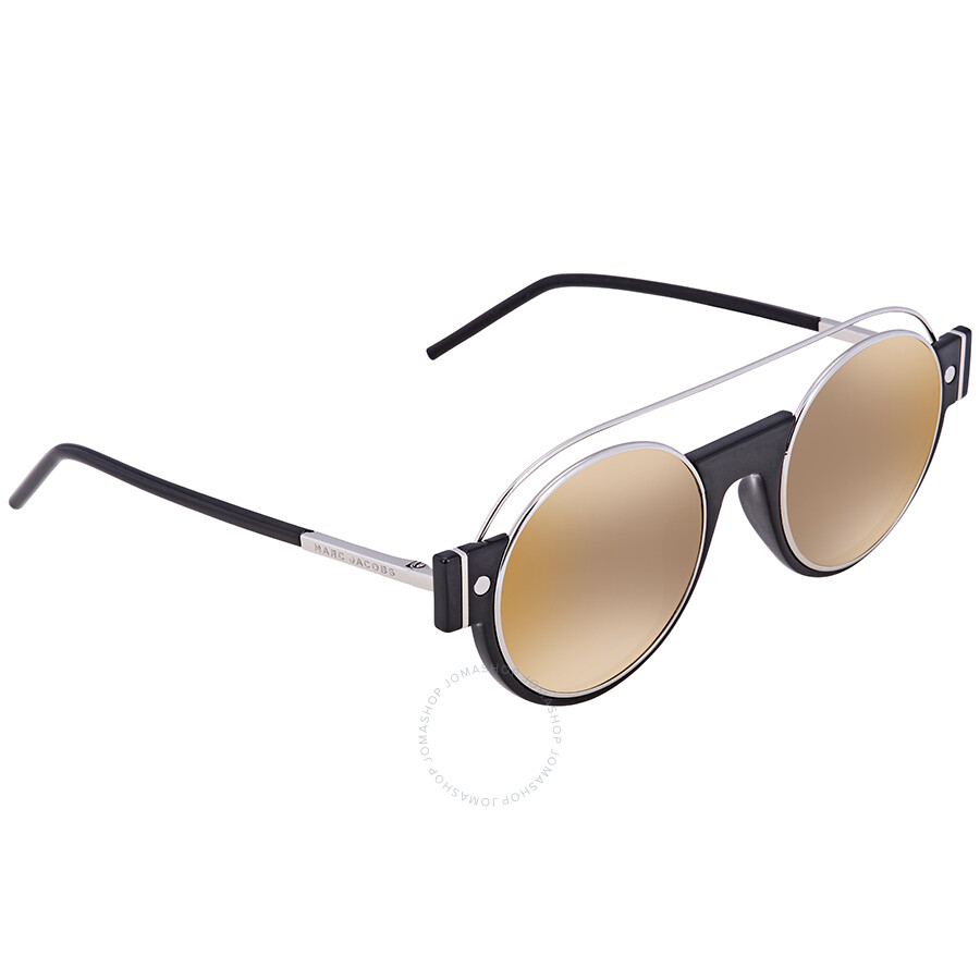 95b4aecd32 Marc Jacobs Gray Sf Gold Sp Round Ladies Sunglasses MARC2S 0U4Z FQ 49 Item  No. MARC 2 S 0U4Z FQ 49