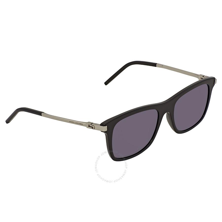 e50bb3230e5 Marc Jacobs Grey-Blue Square Sunglasses MARC139S 0CSA IR 53 - Marc ...