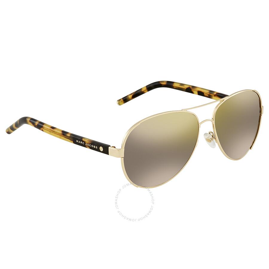 4332fbcf2d07 Marc Jacobs Gunmetal Mirror Aviator Sunglasses MARC 66/S 08VI HJ 60 ...
