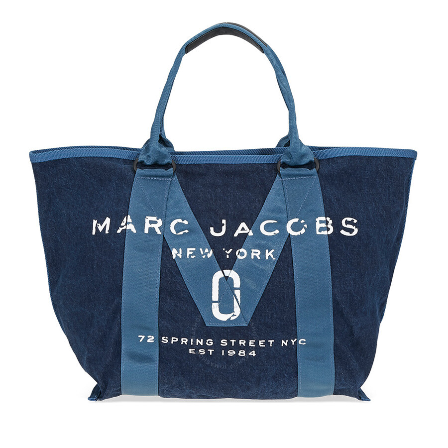 Marc Jacobs Logo Tote Denim