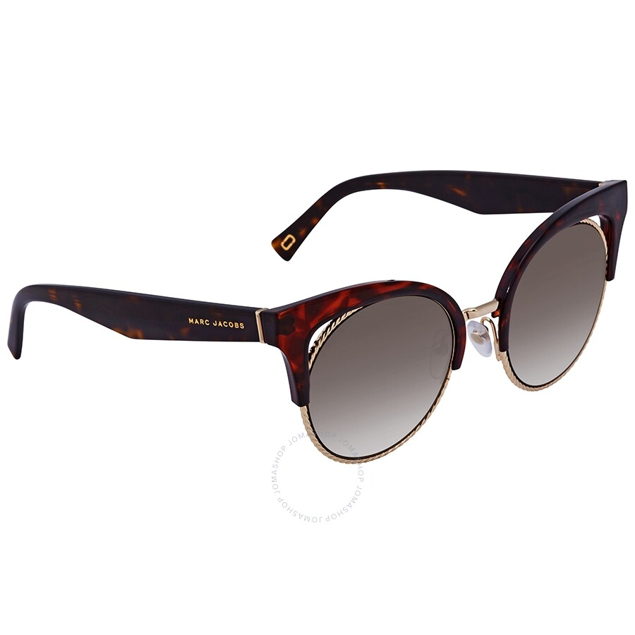 cfb3227460d3 Marc Jacobs Marc Brown SS Gold Cat Eye Ladies Sunglasses MARC 215 S 0086 51  ...