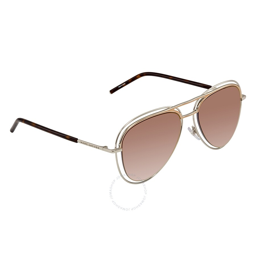 eae17f902695 Marc Jacobs Marc Gray SF Gold SP Aviator Sunglasses MARC 7/S 0TWM 54 ...