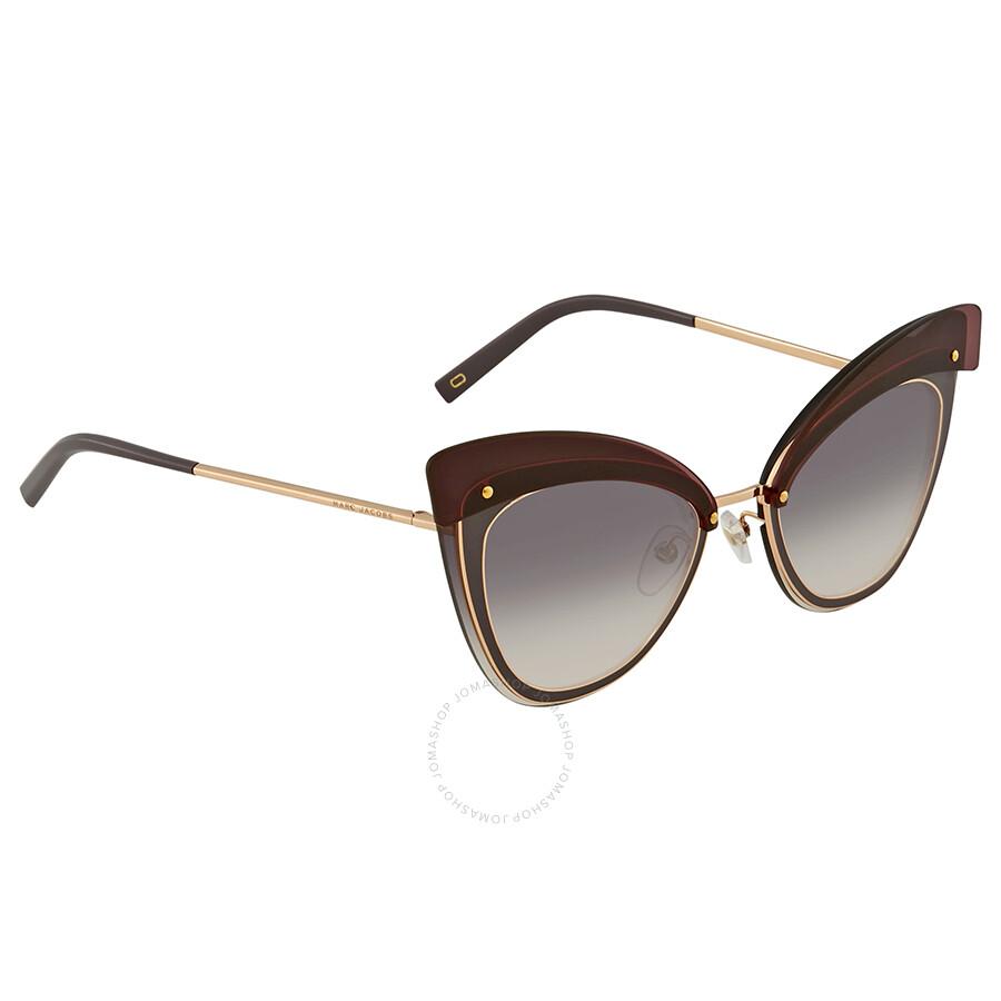 4ff14c9d0cd Marc Jacobs Marc Grey Gradient Cat Eye Ladies Sunglasses MARC100S 0DDB 9C 64  ...