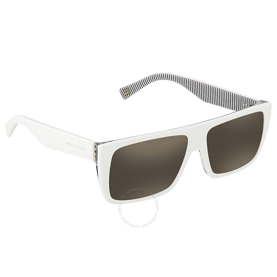 79e79d472de4 Marc Jacobs Marc Icon Gray, Ivory Mirror Rectangular Sunglasses MARC096S  07LL UE 57 ...