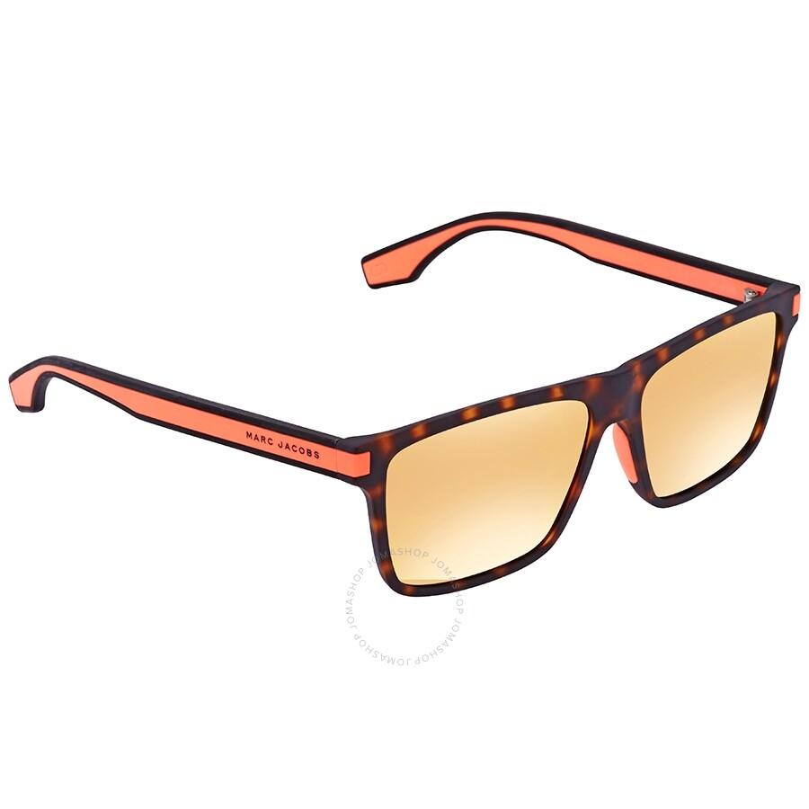 0417763960 Marc Jacobs Marc Orange Flash ML Rectangular Unisex Sunglasses MARC 286 S  0L9G 56 ...