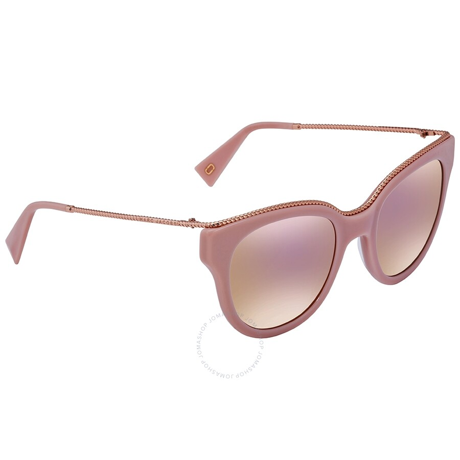 b5420a4615ac3 Marc Jacobs Marc Rose Gold Cat Eye Ladies Sunglasses MARC165S 035J 0J 51 ...