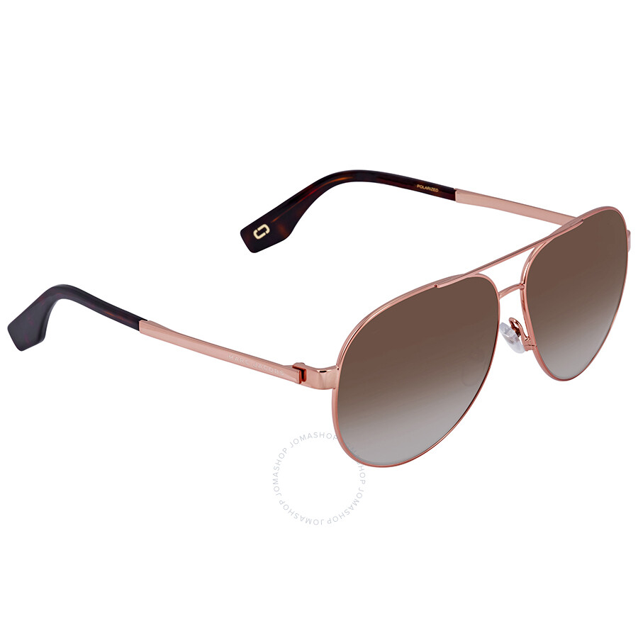 5e2e1611662f Marc Jacobs Brown Aviator Unisex Sunglasses MARC 305 S 0DDB LA 61 ...