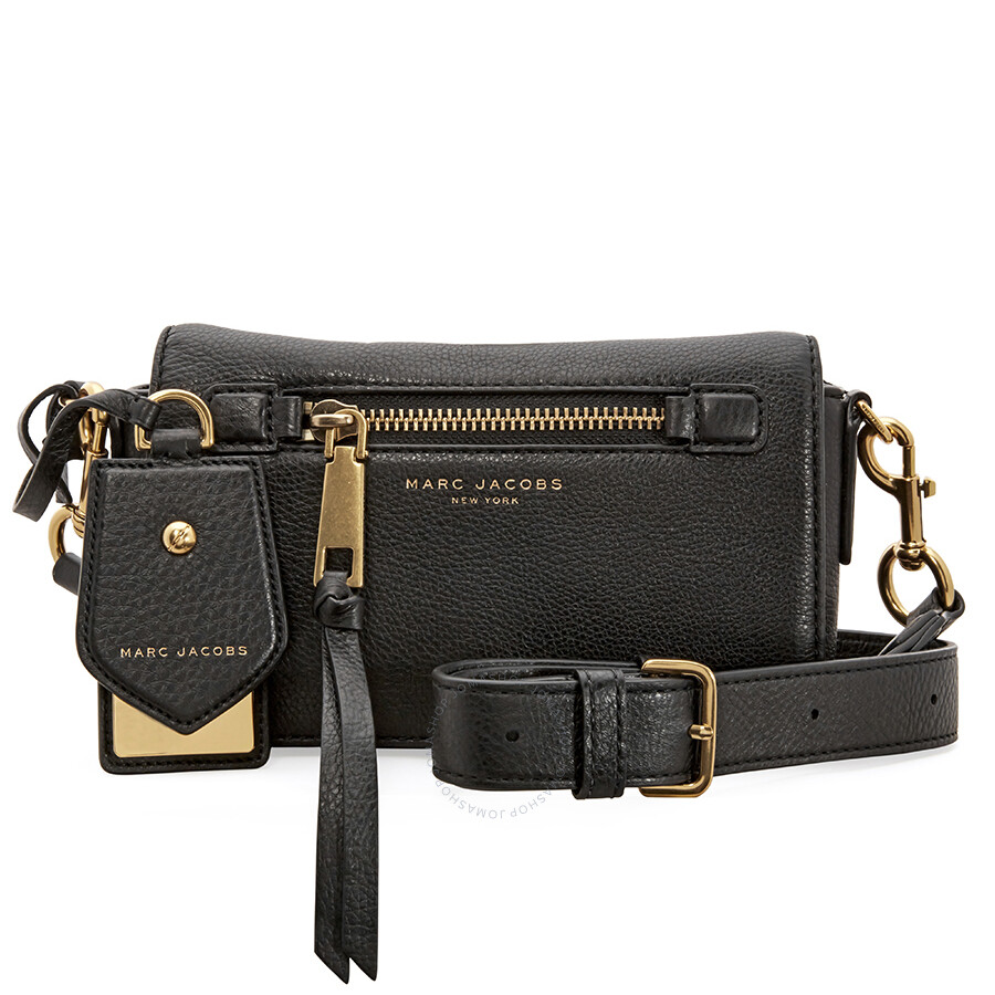 26048bc08 Marc Jacobs Recruit Leather Crossbody Bag - Black Item No. M0008896-001