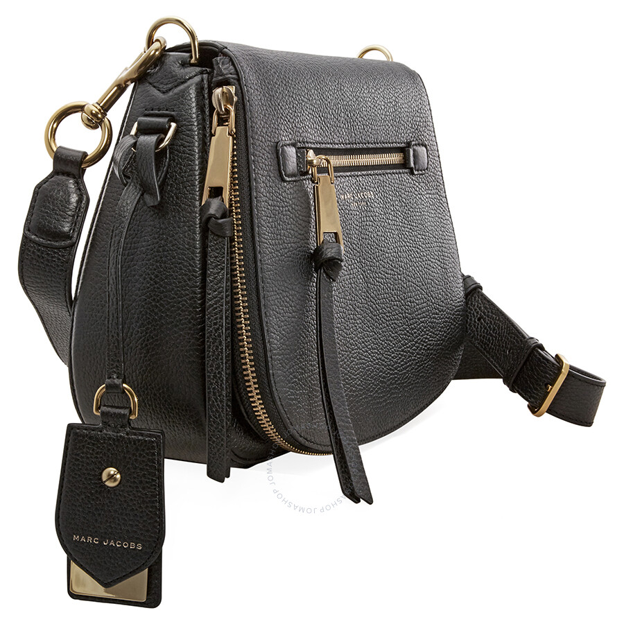 0141b9f28c6 Marc Jacobs Recruit Nomad Pebbled Leather Saddle Bag - Black - Marc ...