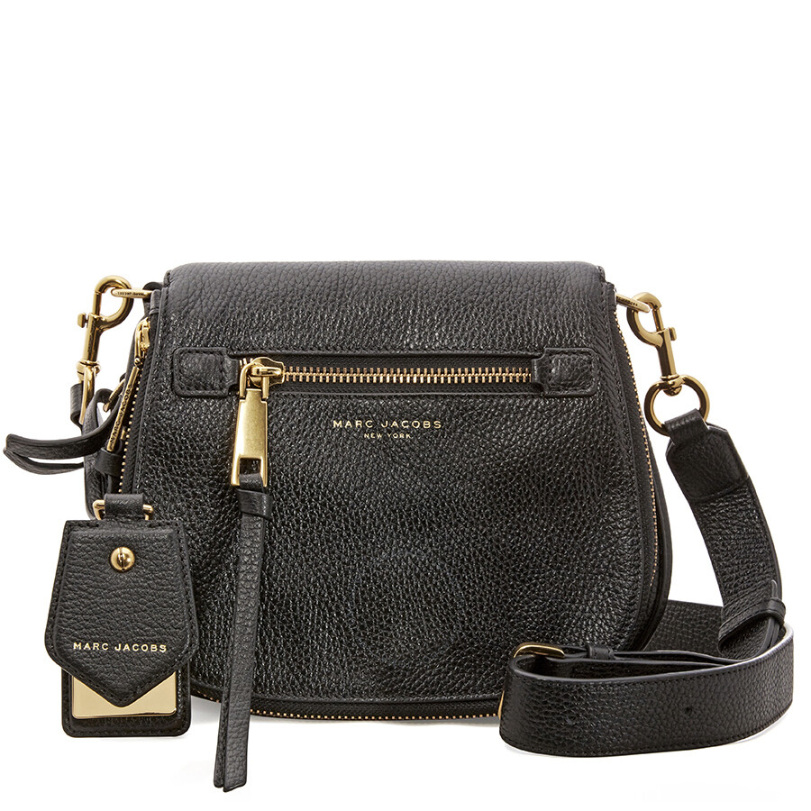711a2be1cdc8 Marc Jacobs Recruit Nomad Small Pebbled Leather Saddle Bag- Black Item No.  M0008137-001