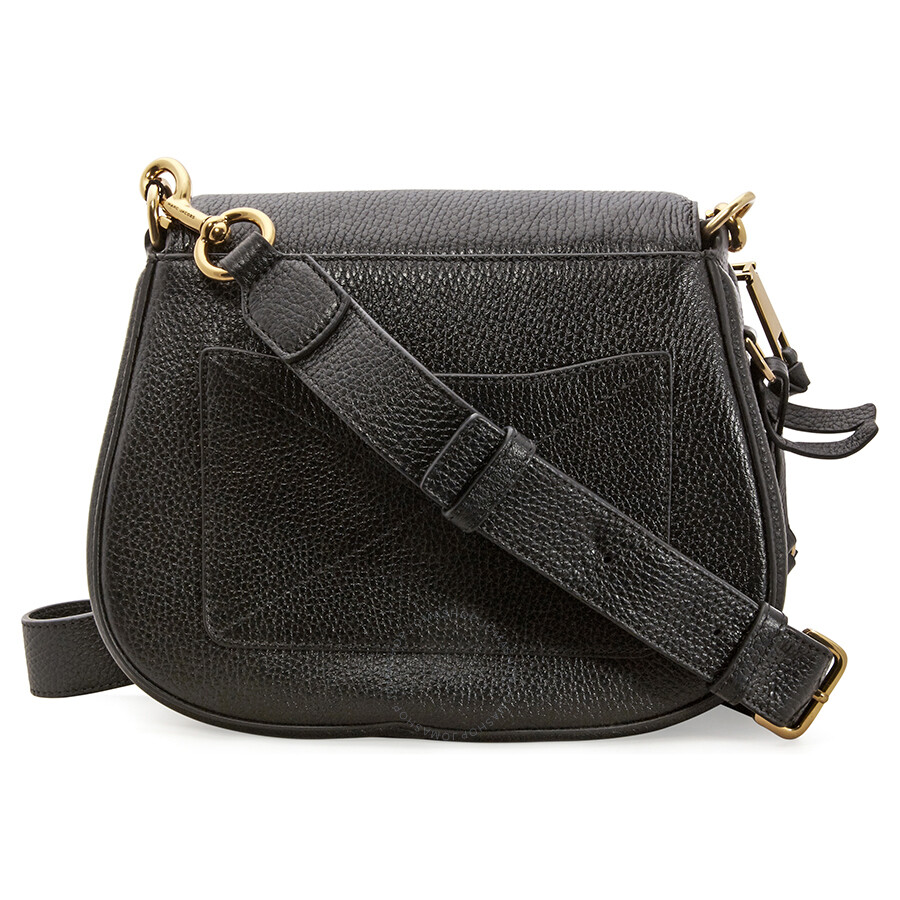 aeb0cb1afd40 Marc Jacobs Recruit Nomad Small Pebbled Leather Saddle Bag- Black ...