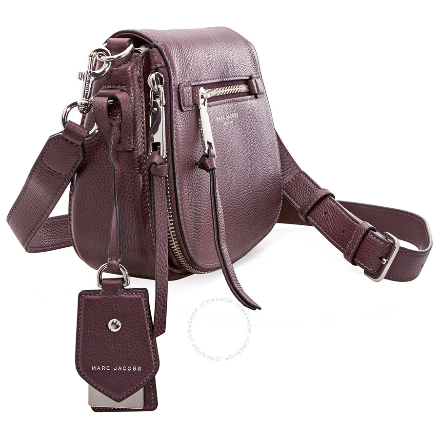 11e10104d4 Marc Jacobs Recruit Nomad Small Pebbled Leather Saddle Bag- Blackberry