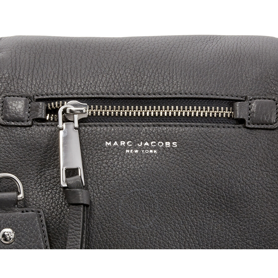 a32f1a69c5ca Marc Jacobs Recruit Nomad Small Pebbled Leather Saddle Bag- Shadow ...