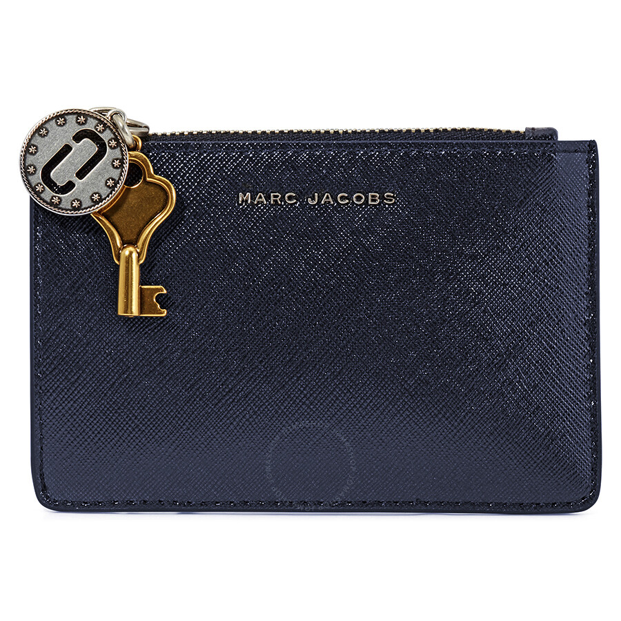151c374e0791 Marc Jacobs Saffiano Leather Wallet- Navy Blue - Marc by Marc Jacobs ...
