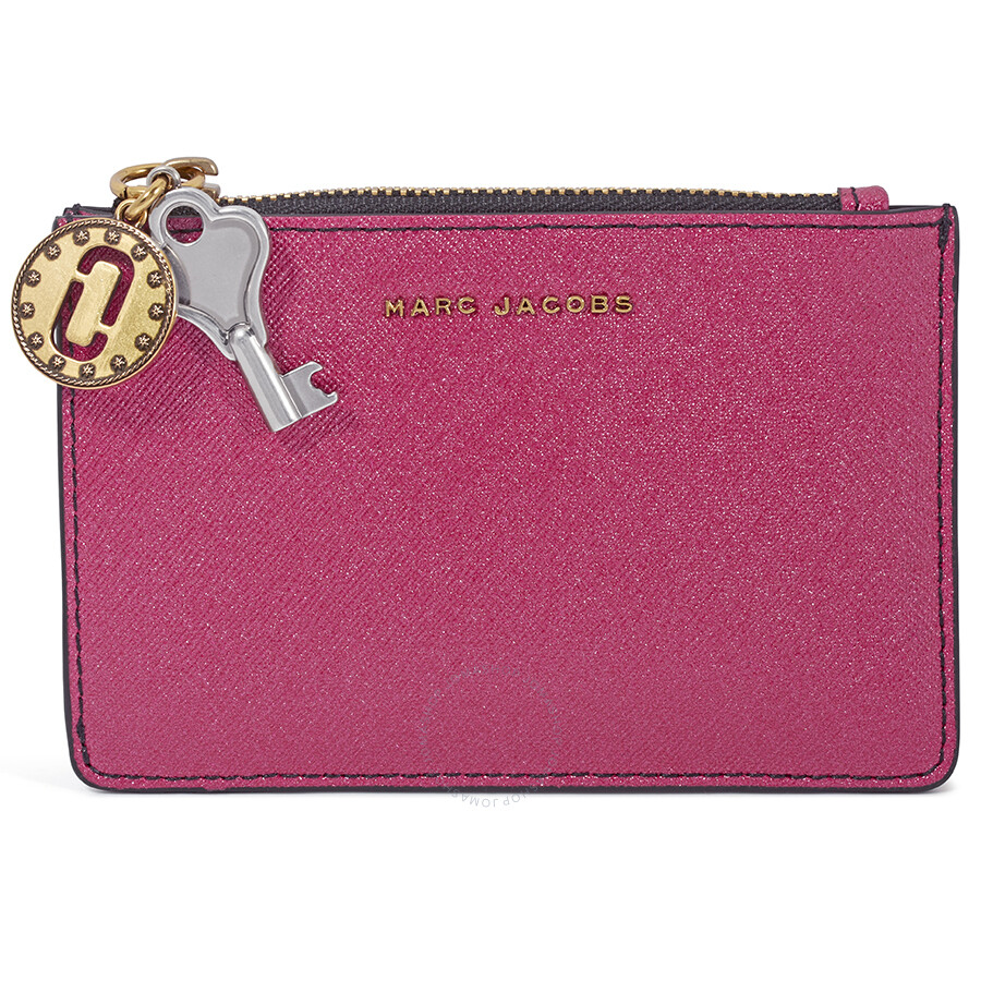 Marc Jacobs Saffiano Leather Wallet Pink
