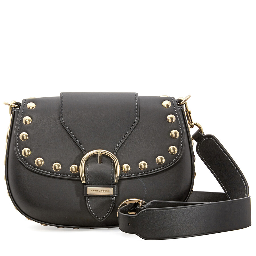 140c74910612a7 ... 5fb7e36ea8c8 Marc Jacobs Studded Navigator Shoulder Bag- Black Item No.