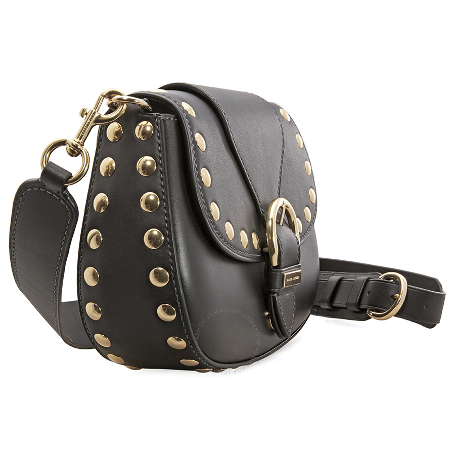 b2ef52e788f Marc Jacobs Studded Navigator Shoulder Bag- Black - Marc by Marc ...