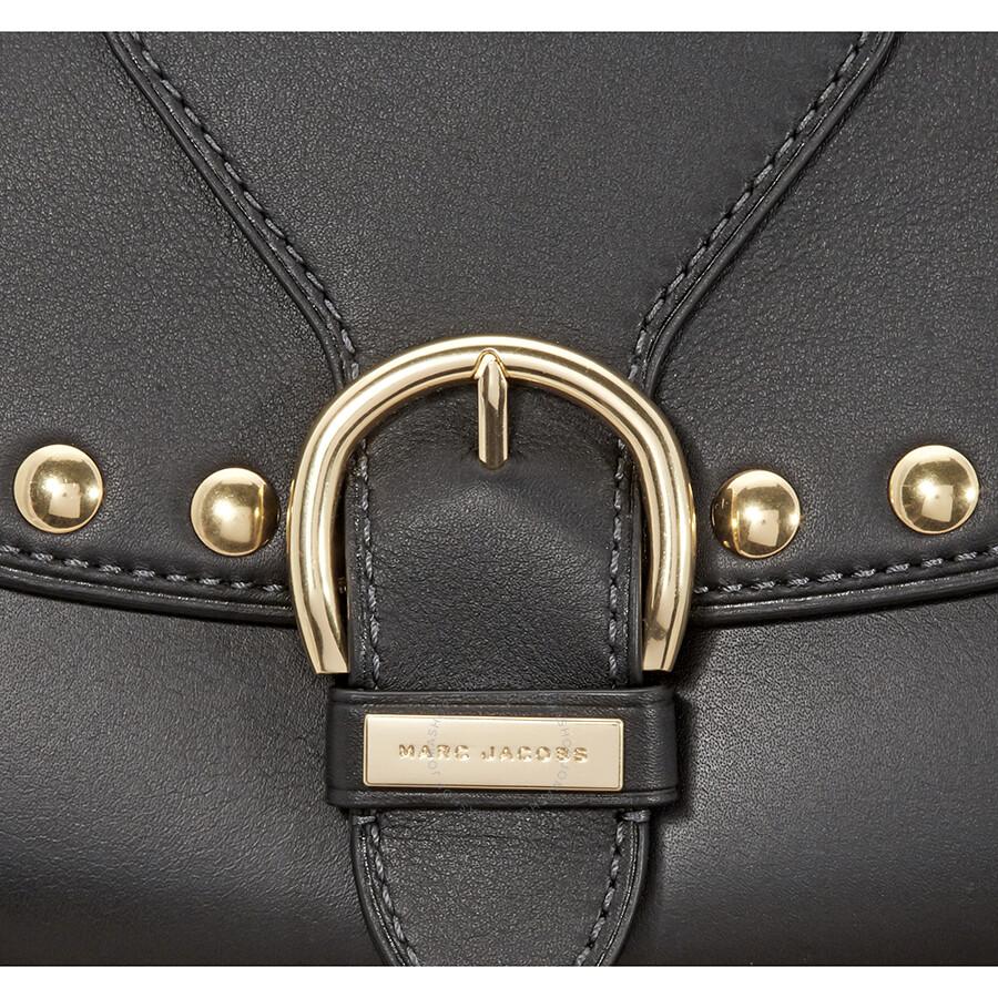 9560604fe7cc Marc Jacobs Studded Navigator Shoulder Bag- Black - Marc by Marc ...