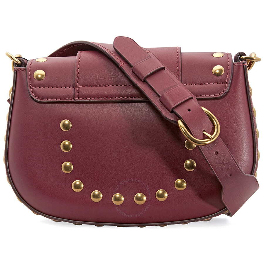85e25d0a8487 Marc Jacobs Studded Navigator Shoulder Bag- Cabernet Red - Marc by ...