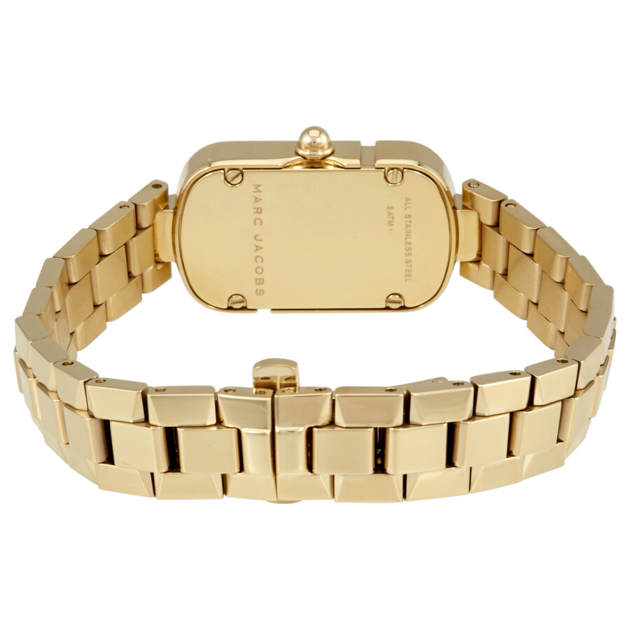 1ac27996d0c8 ... Marc Jacobs The Jacobs White Dial Ladies Gold Tone Watch MJ3504