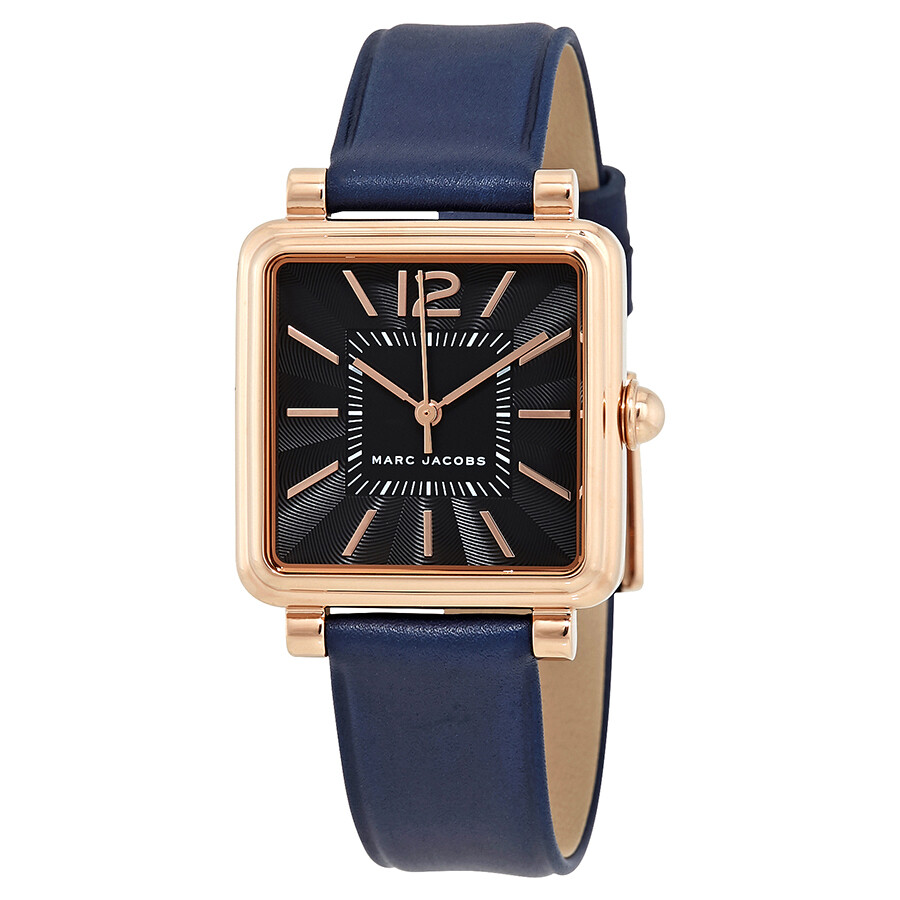 Leather Gmbh Contact Us Email Sales Mail: Marc Jacobs Vic Black Dial Ladies Leather Watch MJ1523
