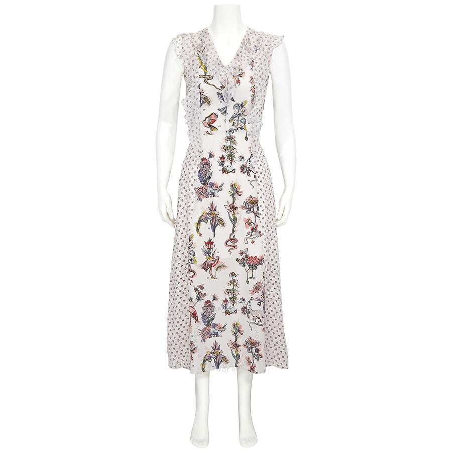 markus lupfer ladies long flower silk dress brand size 6 dr985 wht apparel jomashop jomashop
