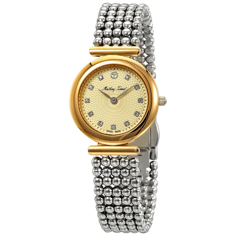 Allure Crystal Gold Dial Ladies Watch D539BDI