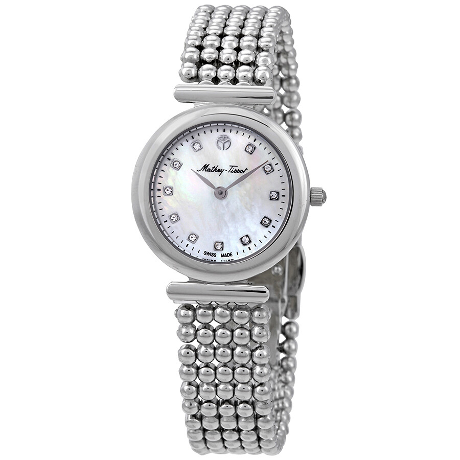 Allure Crystal Silver Dial Ladies Watch D539AI