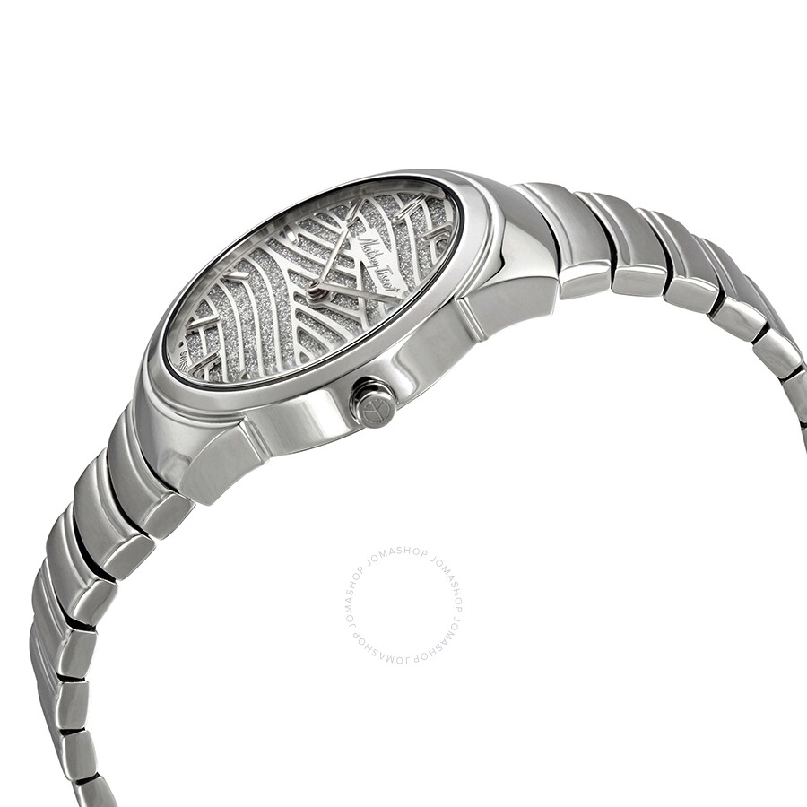 Mandy Quartz Spangled Silver Dial Ladies Watch D1091AIS