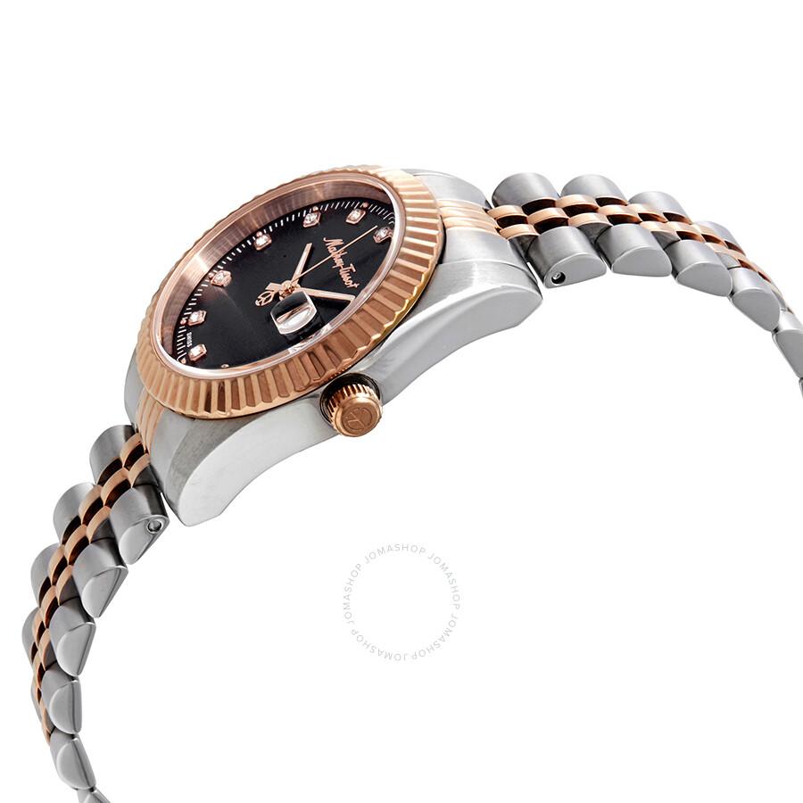 Mathey III Quartz Crystal Black Dial Ladies Watch D810RN