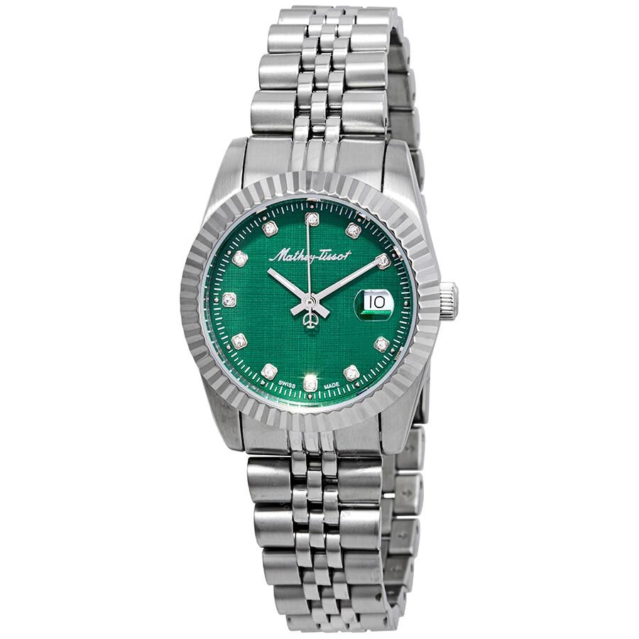 Mathey III Quartz Crystal Green Dial Ladies Watch D810AV